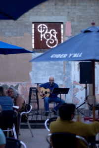 Adrian Hulet preforms on a Tuesday night