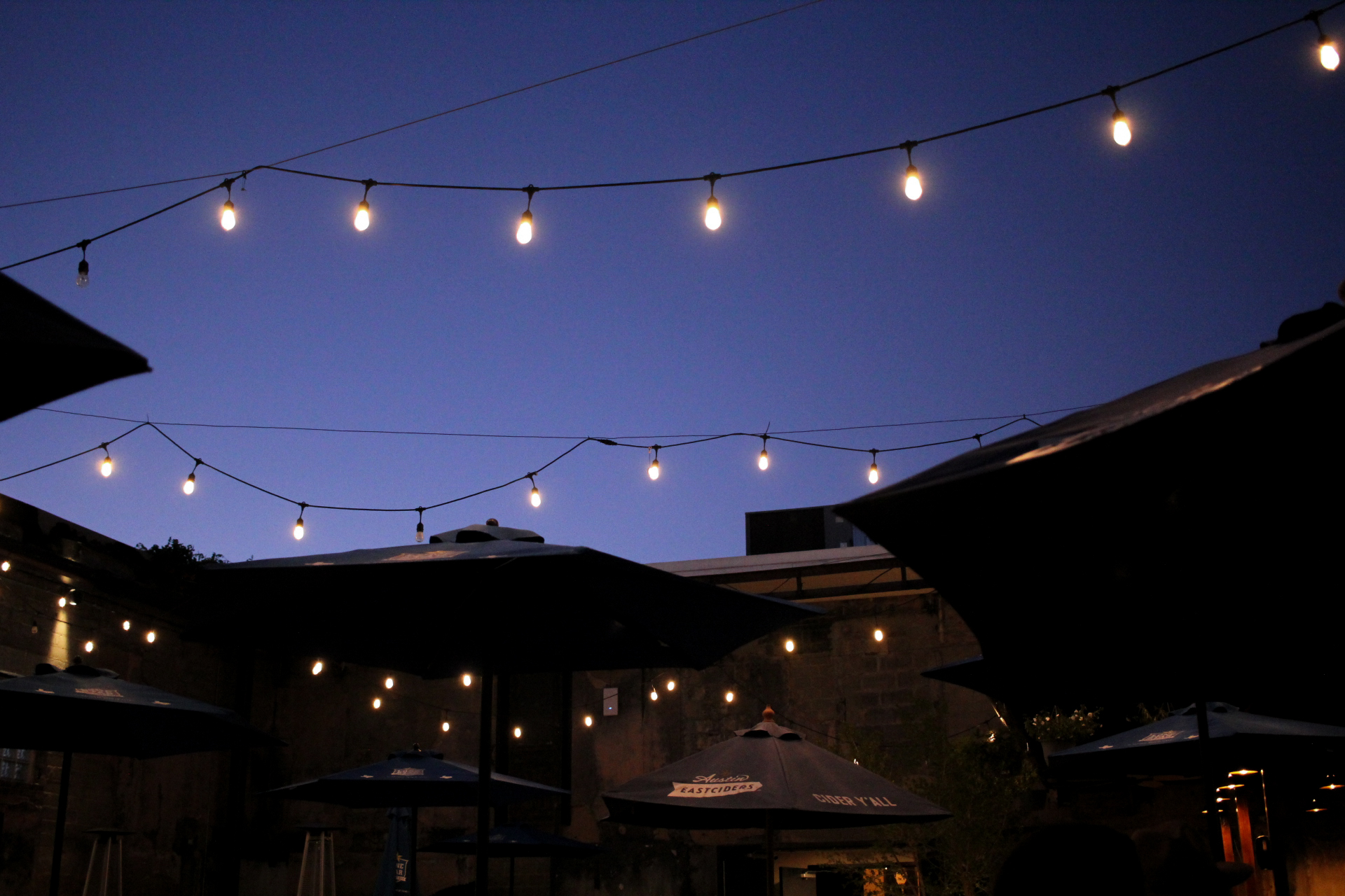 An evening on the patio