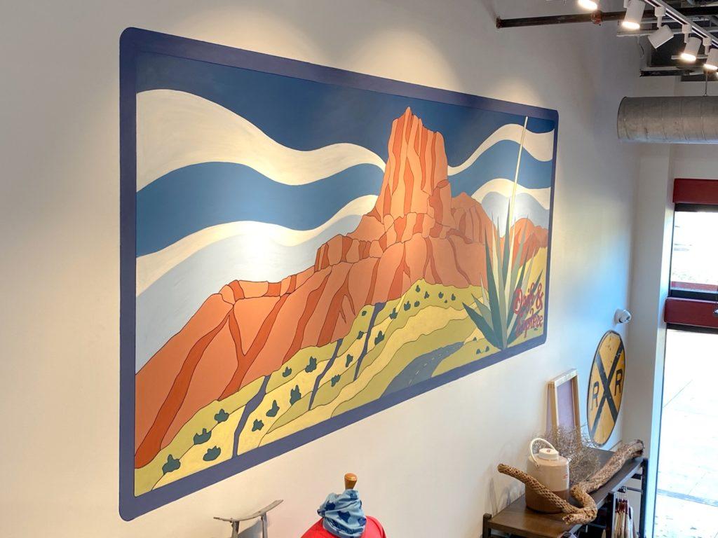 Tumbleweed Texstyles Guadalupe Peak Mural