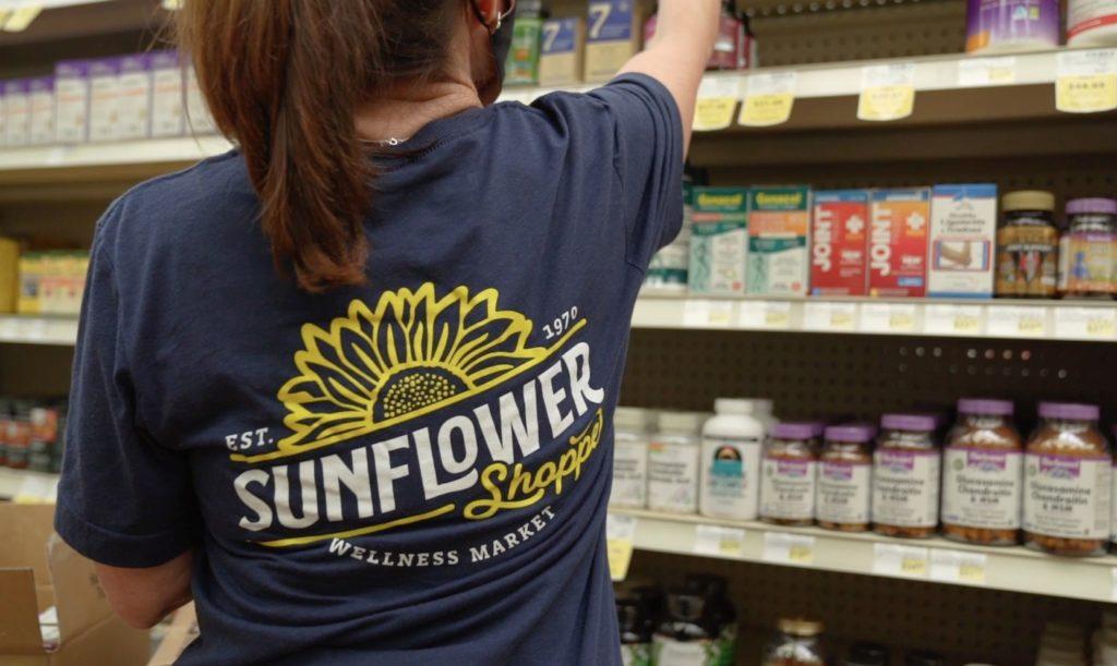 The newly printed Sunflower Shoppe shirts.